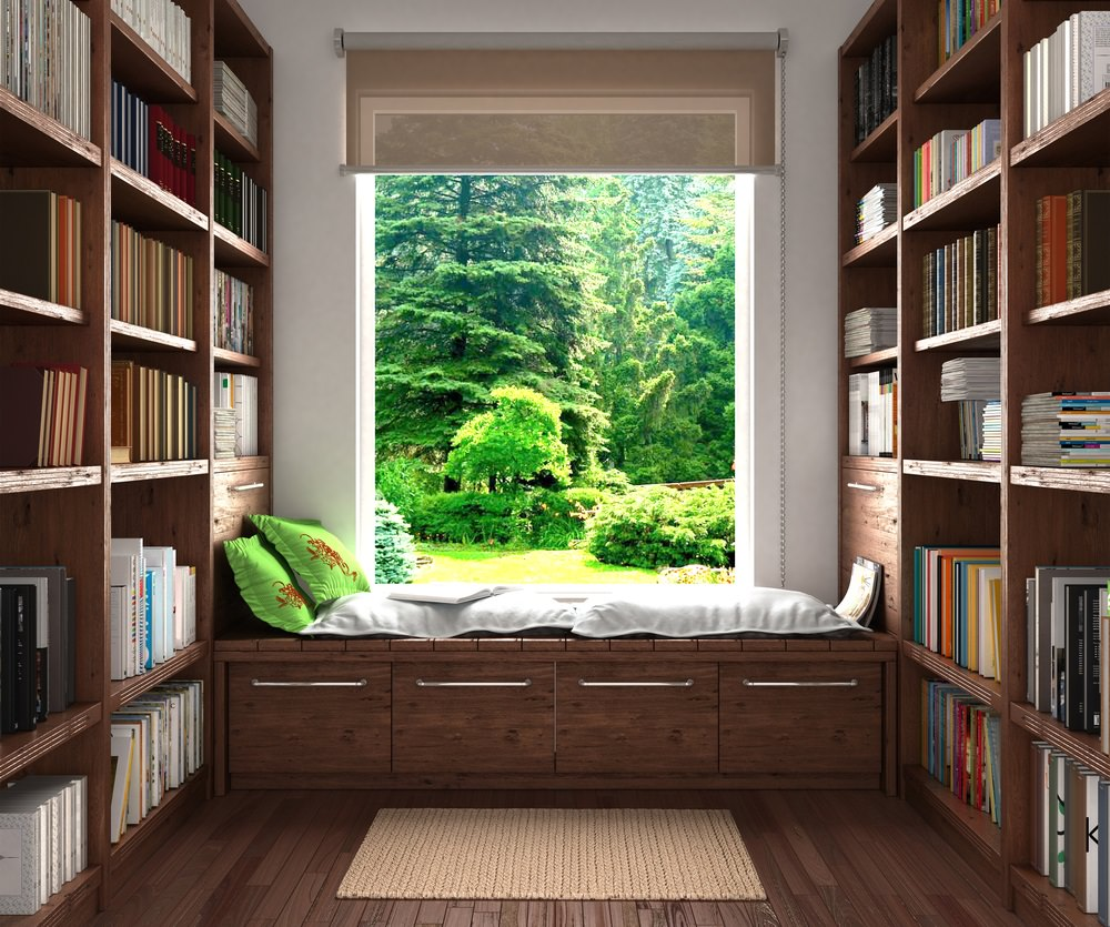 Reading nook and window