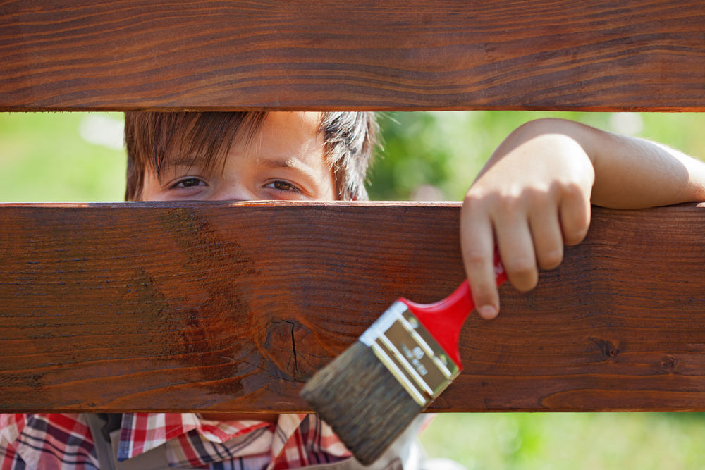 Painting Wood Fence