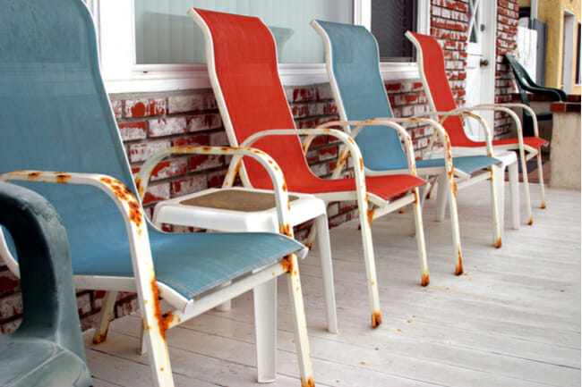 rusty patio furniture