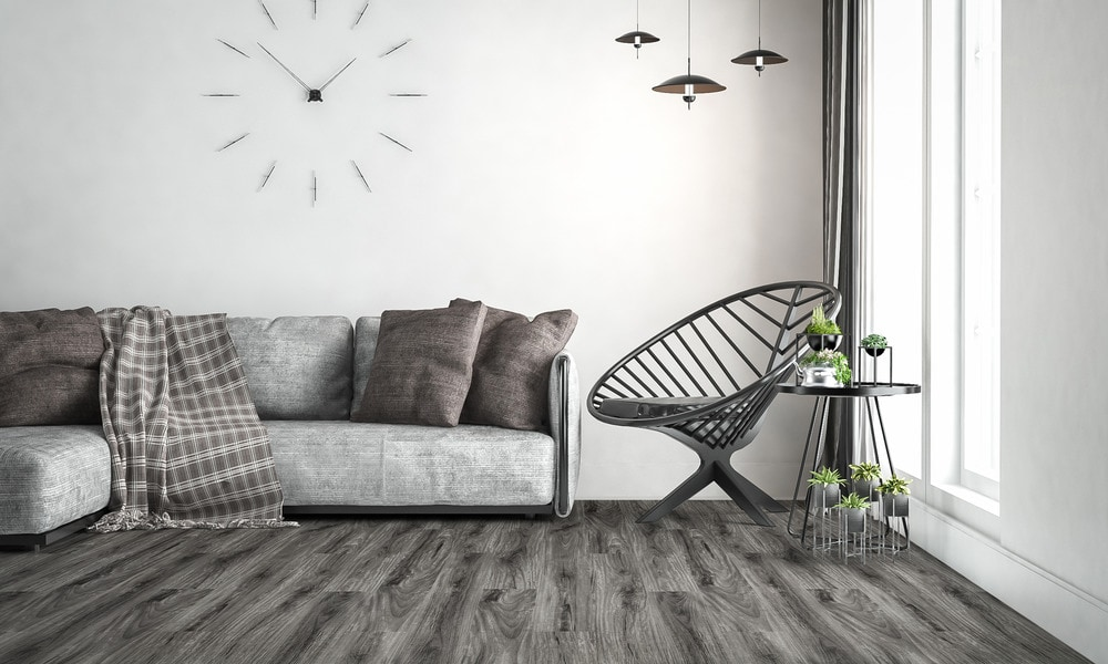 These pre-attached 1.5mm foam underpaded planks offer noise reduction and added comfort when walking on the floor. Featuring Vesdura Vinyl Planks 5.5mm SPC Click Lock Vigorous Collection i