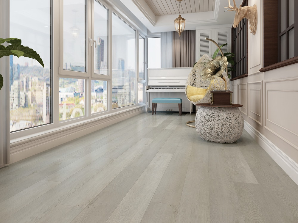 This flooring is designed with an Embossed in Register (EIR) surface texture to give an extremely realistic 3-dimensional appearance. Featuring Vesdura Vinyl Planks 12mm WPC Click Lock Ultimate Collection in Desert Oak