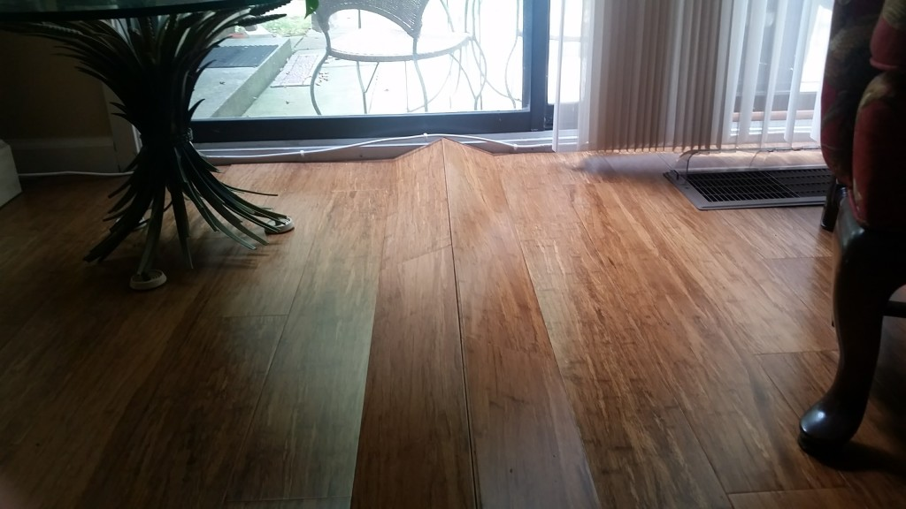 water-damaged floor