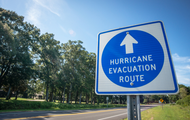 hurricane evacuation rout