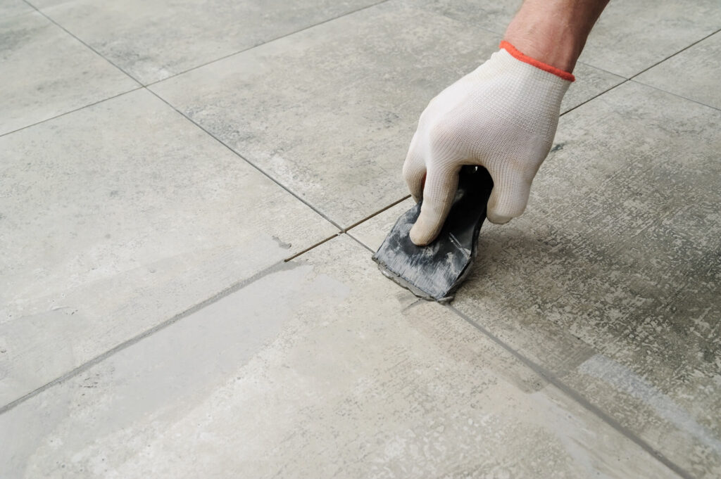 remove dried grout