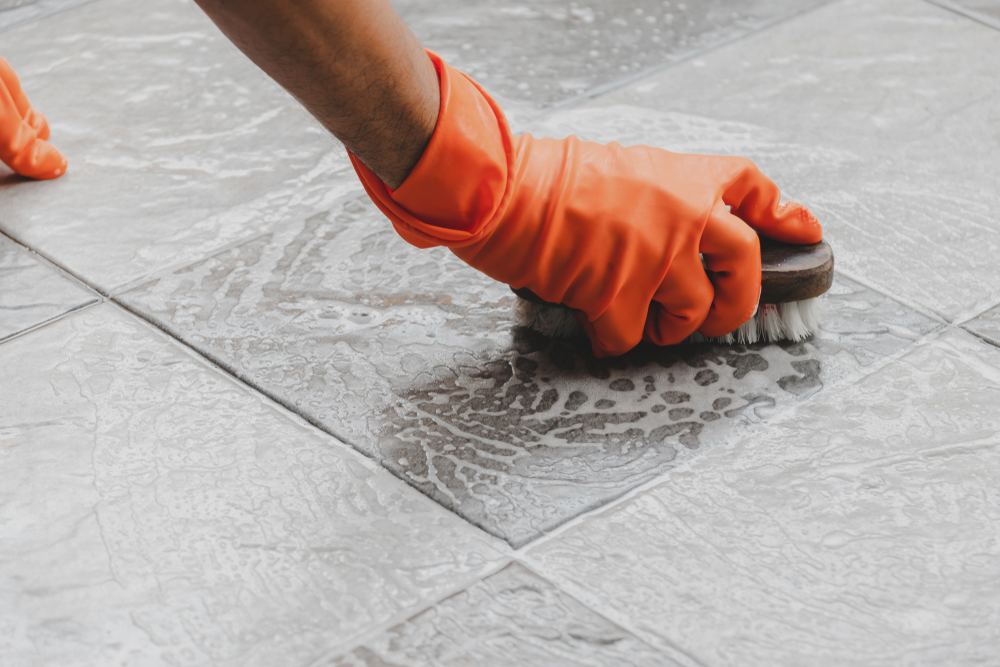 How To Remove Dried Grout From Porcelain Tile