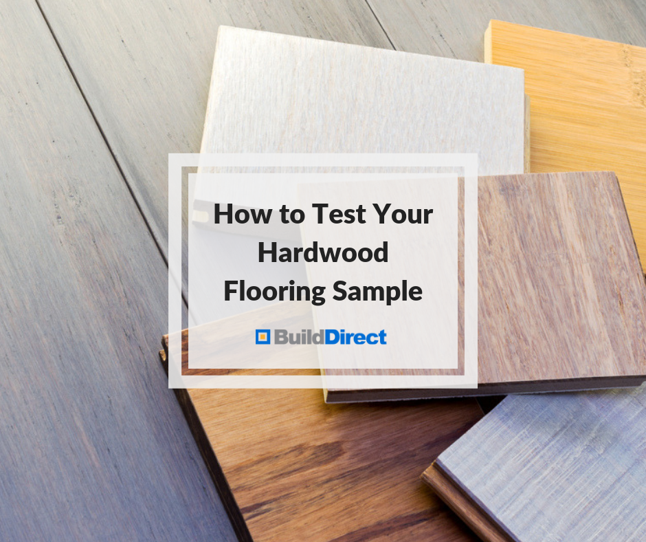 test hardwood flooring sample