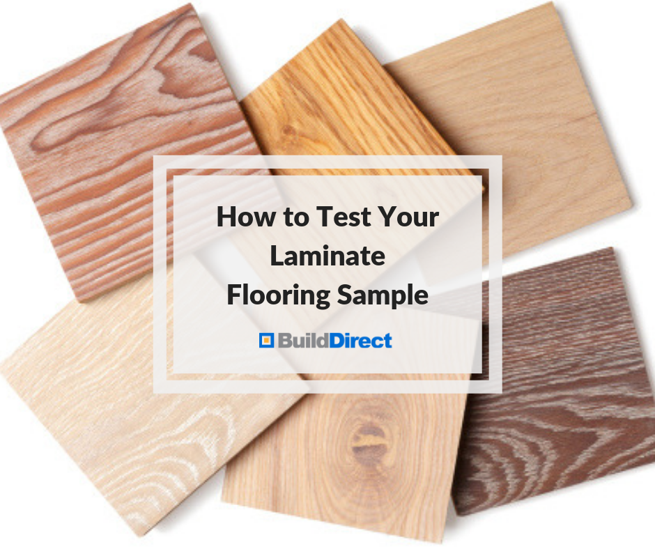 test laminate flooring sample