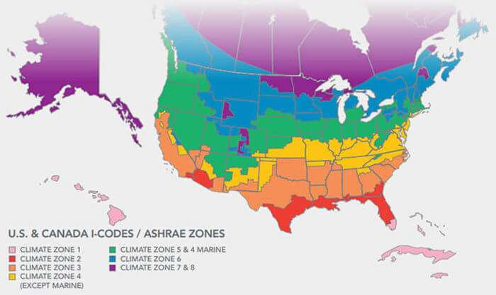 floor insulation climate zones