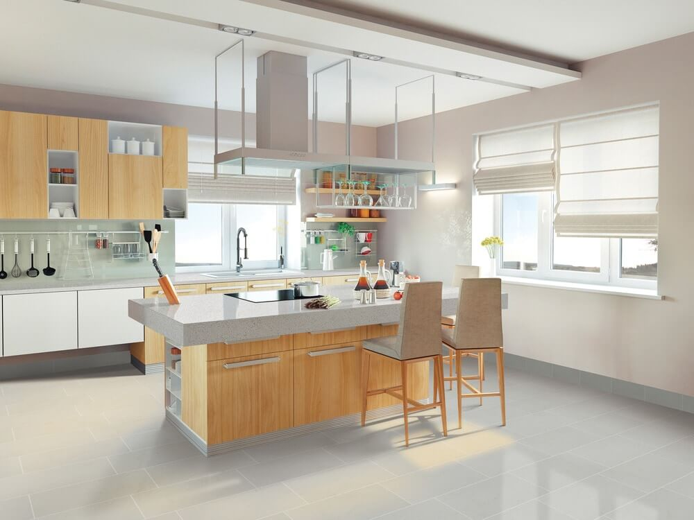 low voc porcelain kitchen