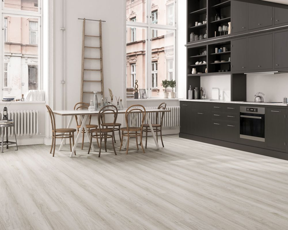 Functional and beautiful, Vinyl Flooring can add value to any space. Featuring Vesdura Vinyl Planks - 6mm SPC Click Lock - XL Silva Collection in Elite Sepia