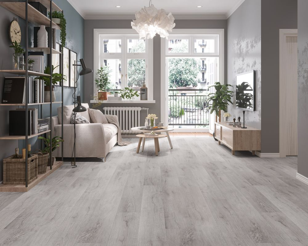 Refresh and modernize your home with our stylish Vinyl flooring options. Featuring Vesdura Vinyl Planks - 7mm SPC Click Lock - Meraki Collection in  Iridescent Mist