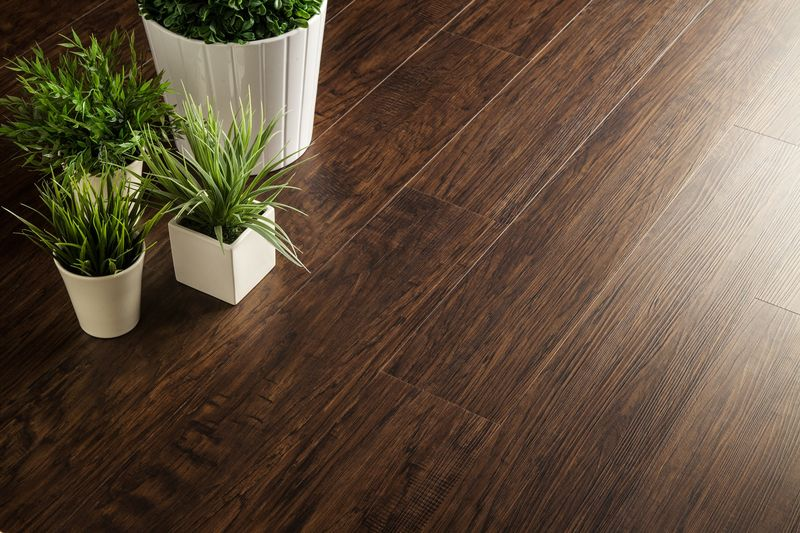 Featuring Vesdura Vinyl Planks, Contemporary Collection in Metro Brown