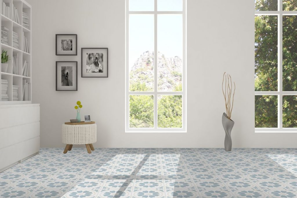 Featuring Cabot Fiore Series Porcelain Tile in Vibrant