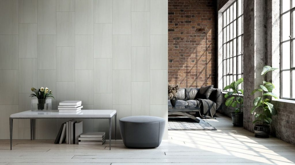 Cabot Porcelain Tile Creation Stone Series in Grey Limestone