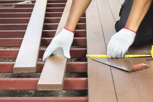 Where to install your wood or composite deck for How to install decking