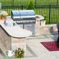 Outdoor kitchens can include a number of features.